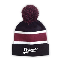 SKYLEMAR STRIPED BEANIE WITH POM