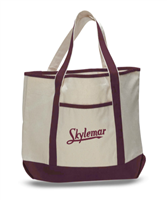 SKYLEMAR LARGE CANVAS TOTE BAG WITH POCKETS