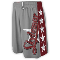 SKYLEMAR SUBLIMATED WHITE STARS LACROSSE SHORTS