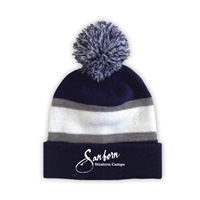SANBORN WESTERN STRIPED BEANIE WITH POM