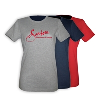 SANBORN WESTERN GIRLS FITTED TEE