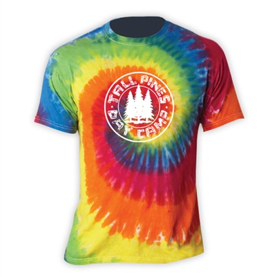 TALL PINES DAY CAMP SWIRL TIE DYE TEE
