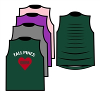TALL PINES CUSTOM DESIGN MUSCLE WITH RIBBON BACK TEE BY ALI & JOE
