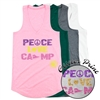 TALL PINES PEACE, LOVE, CAMP AT EASE TANK BY LUXEBASH