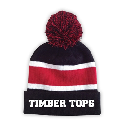 TIMBER TOPS STRIPED BEANIE WITH POM