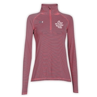 TIMBER TOPS LADIES UNDER ARMOUR STRIPE TECH 1/4 ZIP
