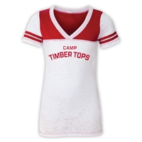 TIMBER TOPS SPORTY BURNOUT V-NECK