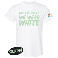 6 POINTS WEST GLOW IN THE DARK FRIDAY WHITE TEE