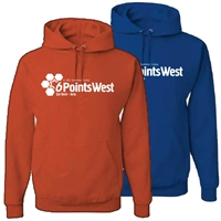 6 POINTS WEST 1 COLOR HOODED SWEATSHIRT