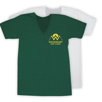 WOODMONT AMERICAN APPAREL UNISEX JERSEY V-NECK TEE