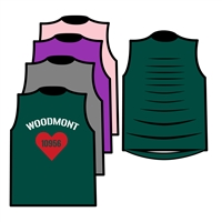 WOODMONT CUSTOM DESIGN MUSCLE WITH RIBBON BACK TEE BY ALI & JOE
