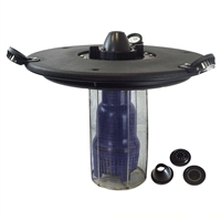 "AQF150003X3W-200 - Aqua Marine Floating Fountain with 36"" Float, 1/2 HP Pump with 200' Cord and (3) 3-Watt White Light Kit"