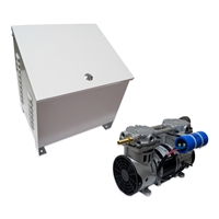 Air Pro Deep Water Subsurface Aeration Combo with 3.9 CFM Rocking Piston Compressor and Ground-Mounted Cabinet with Cooling Fan Assembly - PA-RP60P-CAB