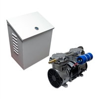 Air Pro Deep Water Subsurface Aeration Combo with 3.9 CFM Rocking Piston Compressor and Wall/Post-Mounted Cabinet with Cooling Fan Assembly - PA-RP60P-WPM