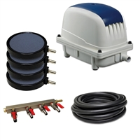 "PAK-100K - Patriot Pond 3.53 CFM Aeration Kit with 50' of 3/8"" Tubing & 8"" Air Diffuser (x4)"
