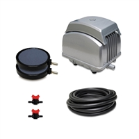 "PAK-45K - Patriot Pond 1.59 CFM Aeration Kit with 25' of 3/8"" Tubing & 8"" Air Diffuser (x2)"