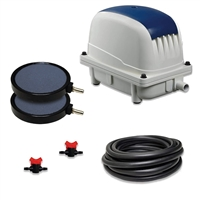 "PAK-65K - Patriot Pond 2.3 CFM Aeration Kit with 30' of 3/8"" Tubing & 8"" Air Diffuser (x2)"