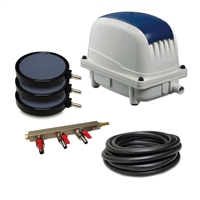 "PAK-80K - Patriot Pond 2.83 CFM Aeration Kit with 40' of 3/8"" Tubing & 8"" Air Diffuser (x3)"