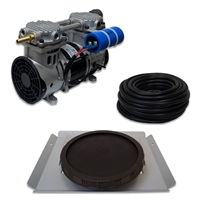 "Pro Aeration, Deep Water System for Ponds and Lakes - (1) 1/2HP, 3.9 CFM Air Compressor, (1) Single-10"" EPDM Rubber Diffuser Disc Assembly - PARP-60KSD1"