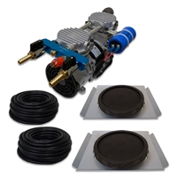 "Pro Aeration, Deep Water System for Ponds and Lakes - (1) 1/2HP, 3.9 CFM Air Compressor, (2) Single-10"" EPDM Rubber Diffuser Disc Assemblies - PARP-60KSD2"