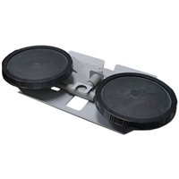 "Patriot Pond Weighted Diffuser Station with (2) 10"" EPDM Diffuser Discs PDSW2"