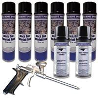 PGFSET-PRO - Patriot Waterfall Gun Foam Professional Set with (6) 24 oz Cans of Gun Foam, (2) 12 oz Cans of Cleaner and Stainless Steel Dispensing Gun