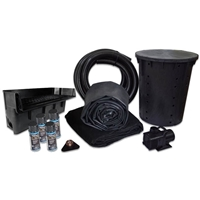 PLAN4 - Simply Pond Free 6100 Waterfall Kit with 10' x 25' EPDM Liner and 6,100 GPH Pump