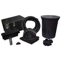 PMANB0 - Simply Waterfalls 4000 Pond Free Kit with MatrixBlox, 15' x 25' EPDM Liner and 4,000 GPH Pump
