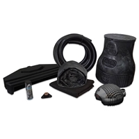 PMBS0-L - Pond Free Complete PRO 5000 Waterfall Kit with 15' x 30' EPDM Liner and 5,000 GPH Pump