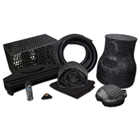 PMBSB6 - Pond Free Complete PRO 5000 Waterfall Kit with MatrixBlox, 10' x 25' EPDM Liner and 4,100 GPH Pump