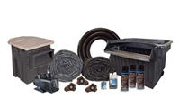 "Half Off Ponds PVCMPB18 - PondBuilder Elite PRO 10000 Mega 30' x 35' PVC Pond Kit w/ 15"" Skimmer & 40"" Waterfall"