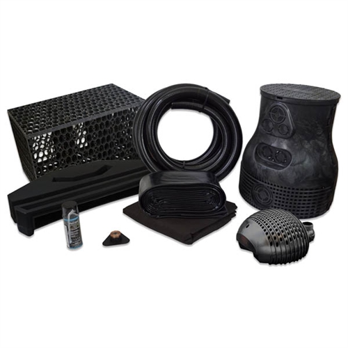 PVCPMBSB4 - Pond Free Complete PRO 5000 Waterfall Kit with MatrixBlox, 15' x 20' PVC Liner and 5,000 GPH Pump