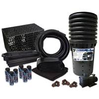 Simply Waterfalls 10000 Pond Free Kit with MatrixBlox, 10' x 40' PVC Liner and 10,000 GPH Pump - PVCPMTHB7