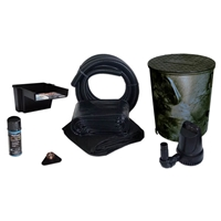 PVCPXSS4 - Savio Pond Free 1200 Waterfall Kit, with 5 ft by 15 ft PVC Liner and 1,200 GPH Manta Series Submersible Pump