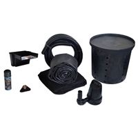 PXSAN5 - 5' x 10' Simply Waterfalls 1200 Compact EPDM Pond Free Waterfall Kit