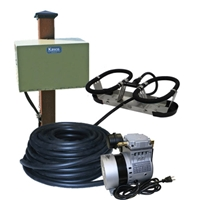 Kasco Marine RA1PM - Robust-Aire Aquatic Aeration System w/ Post Mount Cabinet Mount