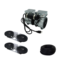 Savio2 Aeration System 2 with 1/2HP Air Pump , Double Diffusers (x2), 100' Weighted Tubing (x2)