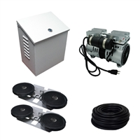 Savio2 Aeration System 2 (Includes Wall/Post Mount) with 1/2HP Air Pump , Double Diffusers (x2), 100' Weighted Tubing (x2)