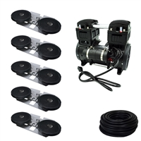 Savio2 Aeration System 5 with 1/2HP Air Pump , Double Diffusers (x5), 100' Weighted Tubing (x5)