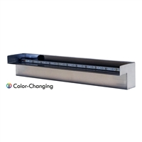 "Steel Elegance 24"" Color Changing Lighted Stainless Steel Spillway - STE24CC"