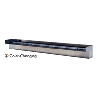 "Steel Elegance 36"" Color Changing Lighted Stainless Steel Spillway - STE36CC"