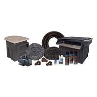"Half Off Ponds MPB10 - PondBuilder Elite PRO 10000 Mega 40' x 40' EPDM Pond Kit w/ 15"" Skimmer & 40"" Waterfall"