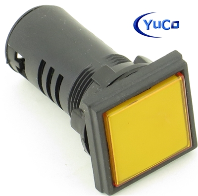 YC-22Y-1 Yuco European Standard Tuv Ce Listed 22MM LED Panel Mount Indicator Lamp Yellow 24V AC//DC 10