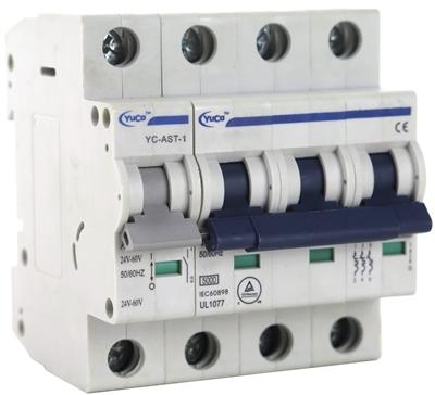 40 Amp Yuco YC-40-3D Miniature Din Rail Circuit Breaker D Curve 277//480V 50//60Hz 3 Pole