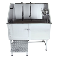 "Flying Pig 50"" Stainless Steel Pet Grooming Tub w/ Ramp"