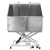 "Flying Pig 50""x24"" Electric Lift Stainless Steel Pet Grooming Tub"
