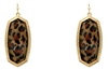Leopard Pendant Earrings