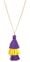 Purple & Gold Duster Necklace