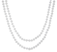 "60"" FACETED GLASS LONG NECKLACE"