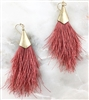 Metal Tapered Fringe Earring- Blush